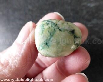 Mariposite (13.8 grams / 22 mm)  Natural Tumblestone  (35) 'Aurora Borealis Stone' - FREE UK POSTAGE