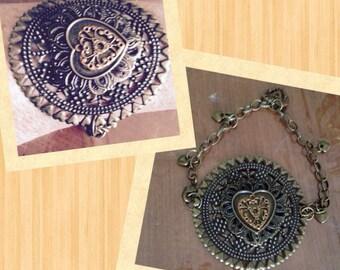 Heart Medallion Bracelet