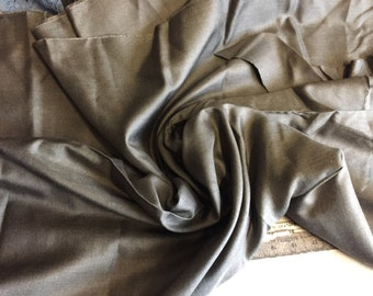 100% Wool Gaberdine, Charcoal , 2+ Yard piece, 60 inches wide, amazing classic look, superior quality