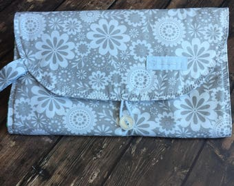Baby Diaper Clutch, Travel Change Station, Travel Changing Pad, Changing Clutch, Baby Changing Pad