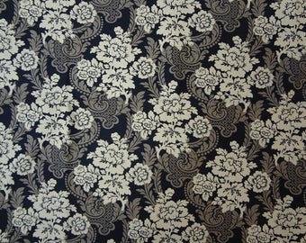 Fabric, Floral, Paisley, Brown Fabric, Classic Design, Novelty Fabric, Fabric by the Yard
