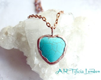 Mended Heart Turquoise & Copper Necklace | December Birthstone Jewellery