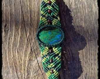 Macrium Bracelet with Chrysocolla