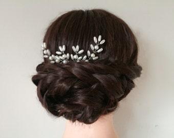 Pearl hair pins,hair grips, wedding hair pins, wedding hair piece, bridal hair pins, bridal hair piece, silver hair pins, set of hair pins