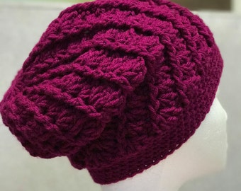 Handmade Crochet Slouchy Hat, Crochet Slouchy Hat, Very Soft and Warm
