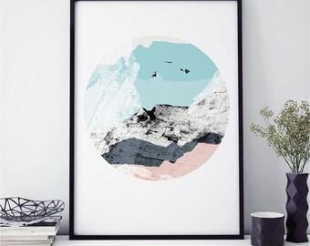 Minimalist Prints, Scandinavian Art, Abstract Wall Art, Fine Art Prints, WOOD VALLEY No.2, Giclee Prints, A3 Print, A2 Prints