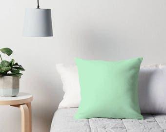 Mint Green Pillow, Green Decorative Pillow, Mint Green Cushion, Green Pillow, Mint Green Pillow, Green Toss Pillow, Mint Green Bedding