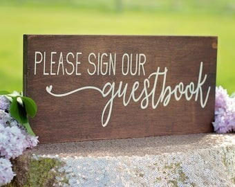 Guestbook Sign | Wedding Signage | Wooden Guestbook Sign | Wedding Sign | Guestbook Table Signage | Wooden Wedding Signage | Rustic