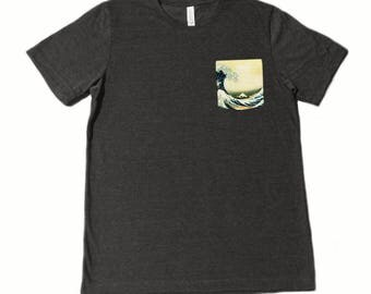 The Great Wave off Kanagawa Pocket Shirt (Katsushika Hokusai)