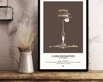 Close Encounters of the Third Kind Inspired Movie Poster Print - 11x17