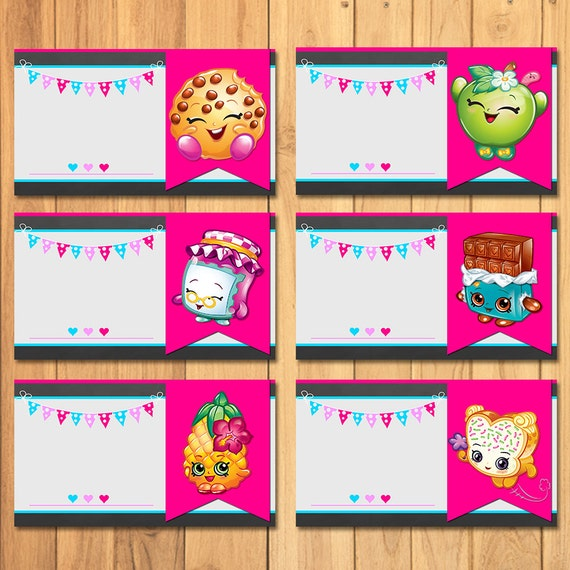 This is a photo of Smart Free Printable Shopkins Food Labels