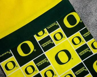 Oregon Ducks Pillowcase/Sham, Oregon Gift Bag, Oregon Ducks Bedding, Green, Yellow, NCAA Bedding, Ducks Pillowcase, Oregon Pillowcase/Sham