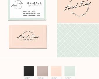 Pre-Made Branding Kit - Logo Design - Business Cards - Pattern Design - Pastel Branding
