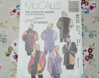 Misses Lined or Unlined Jacket Pattern, The Creative Jacket - 1996 McCall's 8532 - Palmer/ Pletsch the Fit Experts