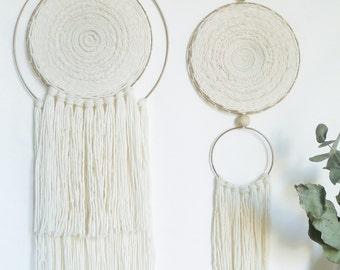 Contemporary weaving - circular weaving - weaving round - wall weaving - Circle woven wall hanging - Tapestry weaving Fiber Art
