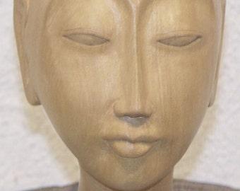Bali Buddhist Male Head Carving