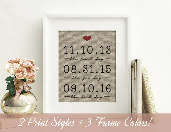 1 Year Anniversary Gifts For Her : for Him 1 Year Together on Burlap 1st Anniversary Gift for Her ...