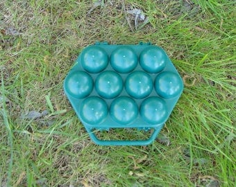 Vintage Soviet Egg Basket, Egg Storage, Eggs Holder for 10 Eggs, Red  Plastic Container, Made in USSR