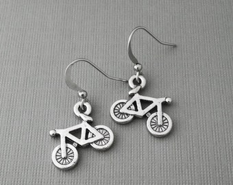 Bike Earrings, Athletic Charm, Bicycle Jewelry, Athletic Earrings, Biker, Bicycle, Sports, Biking, Racing