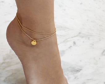 Ankle bracelet, ankle bracelet gold, anklet set, anklet bracelet, beach anklets, summer jewelry, ankle jewelry, gift for daughter