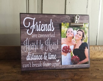 Friends are connected heart to heart, Housewarming Gift, Christmas Gift, Cousins Gift, Best Friends