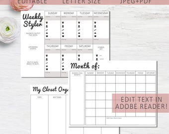 Outfit planner | Etsy