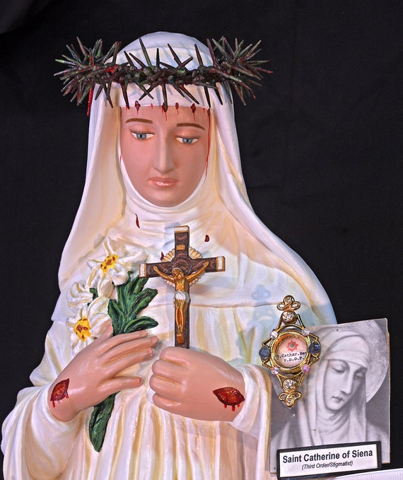"St. Catherine of Siena 31"" Patron of Fire Protection"