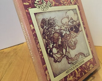 Grimm's Fairy Tales: Twenty Stories Illustrated by Arthur Rackham Vintage 1973 Hardcover Book