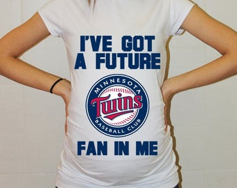 Minnesota Twins Baby Minnesota Twins Shirt Women Maternity Shirt Funny Baseball Pregnancy Pregnancy Shirts Pregnancy Clothing