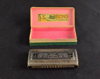 Echo Harp harmonica Hohner echo harp mundharmonica music instrument vintage harmonica tremolo Tremolo harmonica music artist 54 64 cg