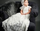Lola Christening Gown & Bonnet- *Pre-Order!* Ships January 25th!