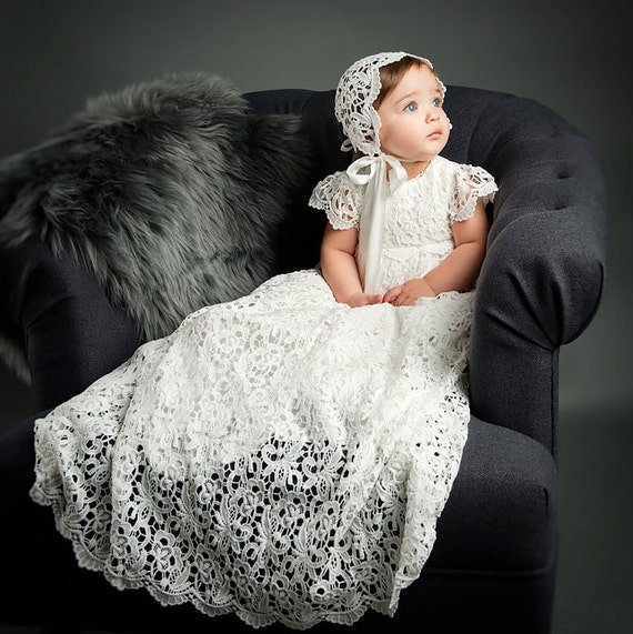 Christening Gowns Lola Lace Baptism Gown