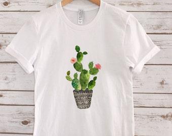 Cactus Womens Tee// Womens Shirt // Womens graphic tee  // Boho Tee //
