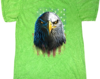 Eagle Stare Mineral Tie Dye Tee T-Shirt 20412D0-1300