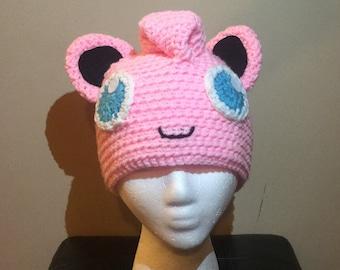 Jiggleypuff Inspired Crocheted Beanie