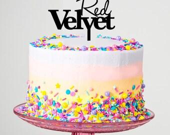 Red Velvet Cake Topper