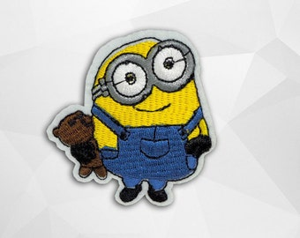 Minions Iron on Patch(M2) - Minions Applique Embroidered Iron on Patch- Size 6.1x6.3 cm