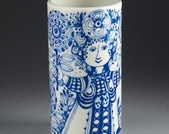 Nymølle, Denmark - Bjørn Wiinblad - FLORA - Vase with blue decor