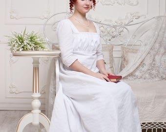 Regency Nursing Dress, Jane Austen Picnic Dress, Regency Tea Gown