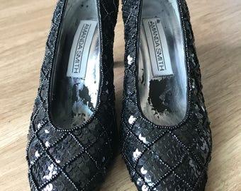 CLEARANCE Black sparkle Amanda smith heels