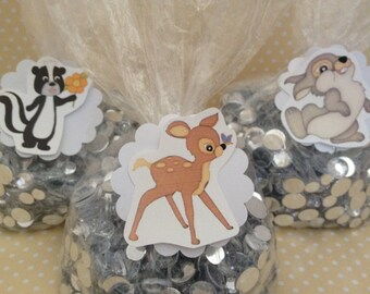 Bambi Party Candy or Favor Bags With Tags - Set of 10