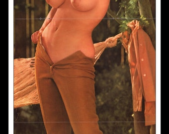 "Mature Playboy July 1963 : Playmate Centerfold Carrie Enwright Gatefold 3 Page Spread Photo Wall Art Decor 11"" x 23"""