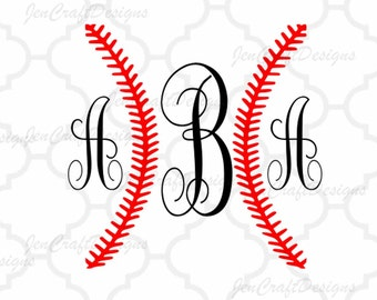 Baseball Ball Stiches SVG cut files, Baseball svg,Dxf,Eps,Png   Softball, Monogram Frame svg for use in Silhouette - Cricut Design   Space
