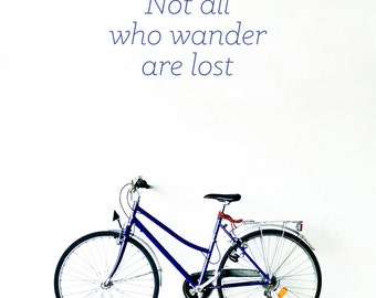 Not all who wander are lost Wall Decal / Quote Wall Sticker / Wall Decor / Bedroom Wall Decor / Gift Idea / Home