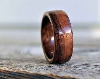 Wood Ring, 5 Year Anniversary Wooden Ring, Custom Wooden Ring, Personalized Wood Ring Men Wood Ring Men Ring  Mens Jewelry Tree Of Life Ring