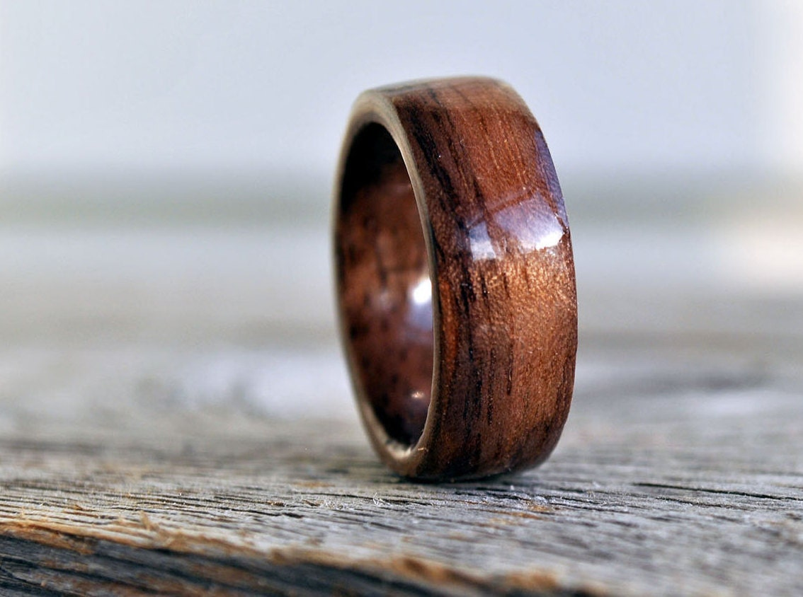 wood ring 5 year anniversary wooden ring custom wooden ring personalized wood ring - Wooden Wedding Rings For Men