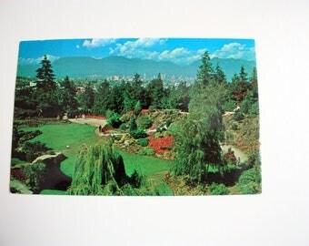 Queen Elizabeth Park Vancouver Postcard 1967 / British Columbia Postcard / gardens postcard / Sunken Garden Vancouver