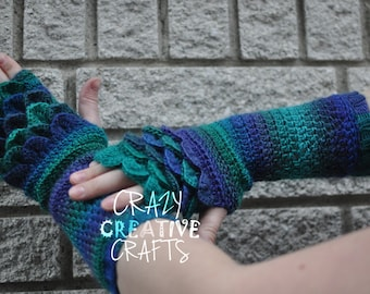 Adult Size Crochet Fingerless Gloves