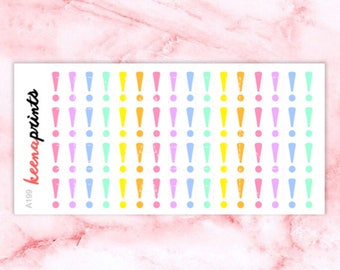 A199 | Important stickers, reminder stickers, exclamation stickers, planner stickers, eclp stickers, bullet journal stickers