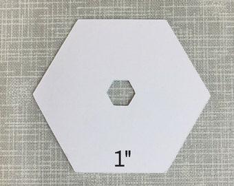 English Paper Piecing - 1 Inch w/Hexagon Punch 100ct.
